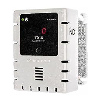 Macurco tx-6-nd blanco No2 de dióxido de nitrógeno (bajo voltaje) fijo transductor de Detector de gas controlador con caja de color blanco: Amazon.es: ...