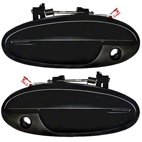 Buick Front Handle (Driver and Passenger Front Outside Outer Door Handles with Keyhole Replacement for Buick Oldsmobile 25699151 25629250)