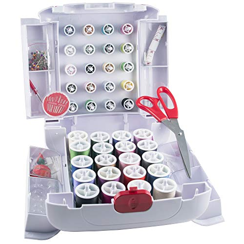 SINGER 01661 Sew Essentials Storage System and Sewing Kit, 166 Pieces