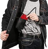 Anti-Theft Hidden Underarm Strap Wallet Phone Holster Bag Leisure PU Leather Shoulder Pocket Sport Vest Outdoo