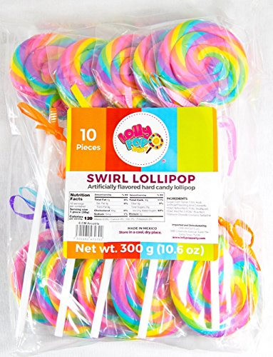Rainbow Swirl Lollipop - Birthday Party, Favors, Decorations, Supplies - By Lolly Pop Party -