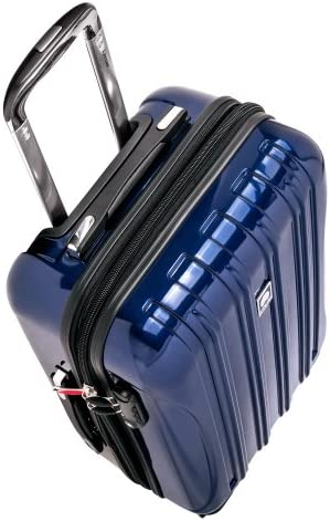 DELSEY Paris Helium Aero Hardside Expandable Luggage with Spinner Wheels, Blue Cobalt, Carry-On 21 Inch