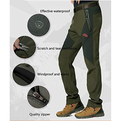 Chaqueta Verde Transpirables ejército Montaña Outdoor Conjunto Chaqueta Montaña WANPUL Softshell Pantalones Softshell Hombre Pantalon Gris Ud0qw64