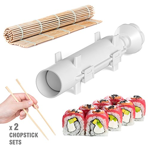 Sushi Bazooka - Sushi Making Kit - Sushi Maker - Sushi set - Sushi Maker Machine - Sushi gift set - Bazooka Sushi - Japanese Sushi Making Kit - Sushezi roller Prepare Sushi at Home by Sushi-Bazooka