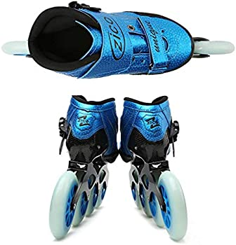 Adult Professional Inline Skates 4 90-110 MM Derby Wheels Professional Carbon Fiber Rollerblade for Children Black Inline Speed Skates RED Blue