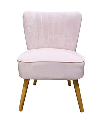 1950s Accent Chairs.Sue Ryder Velvet Oyster Occasional Chair Pink Fluted 1950 S Bedroom Living Room Accent Statement