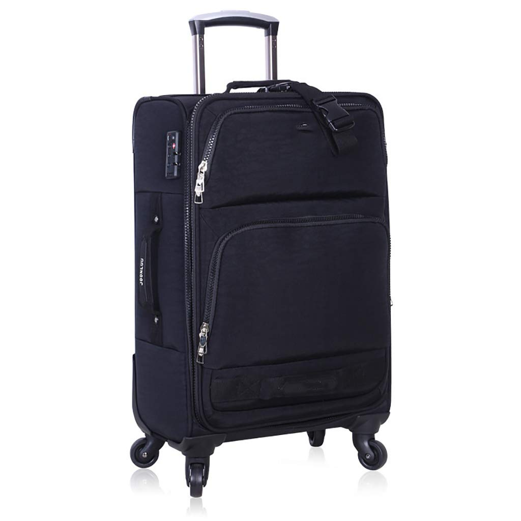 スーツケース スーツケース5サイズ - 20/22/24/26/28インチ軽量で丈夫なナイロンキャビンハンドキャリーバッグを持ち歩くトラベルバッグ4つのホイール - 3桁のコンビネーションロック (色 : アーミーグリーン, サイズ さいず : 28