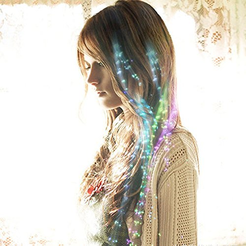 ARTSTORE 10pcs Multicolor Changing LED Lights Hair,LED Flashing Fiber Optic Barrettes Clip Braid for Party,Bar Dancing Hairpin,Hair Clip (Pin The Tail On The Pony)