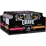 CRAVE Grain Free Adult Wet Dog Food Chicken & Beef Patés with Shreds of Real Chicken Variety Pack, (12) 3.5 oz. Trays For Sale