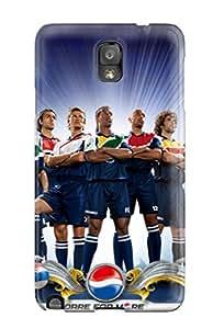 Unique Design Galaxy Note 3 Durable Tpu Case Cover Football
