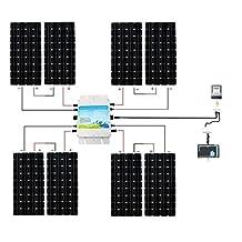 ECO-WORTHY 1200W Grid Tie Monocrystalline Solar Panel Kit: 1200W MPPT Function Waterproof Grid-Tie Micro Power Inverter + 8pcs 160W Mono Solar Panels