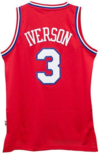 Philadelphia 76ers Allen Iverson Red Adidas Soul Swingman NBA Jersey (Medium)