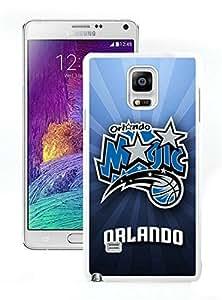 New Custom Design Cover Case For Samsung Galaxy Note 4 N910A N910T N910P N910V N910R4 Orlando Magic 1 White Phone Case