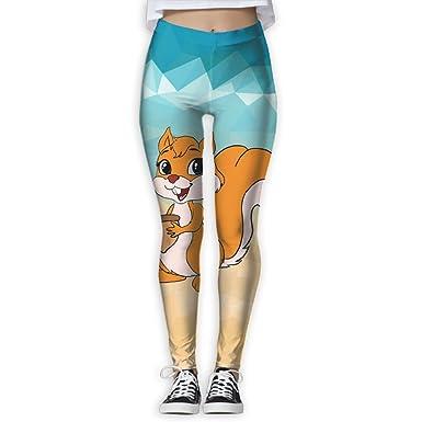 a4dddde6a01a1 Amazon.com: Cute Squirrels Women's Full-Length Yoga Workout Leggings Thin  Capris: Clothing