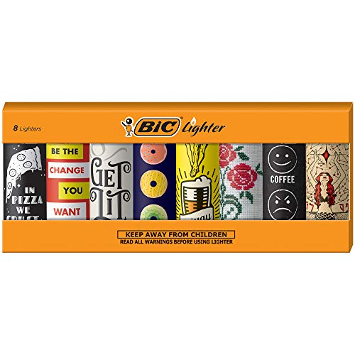 BIC Special Edition Cutting Edge Series Lighters, Set of 8