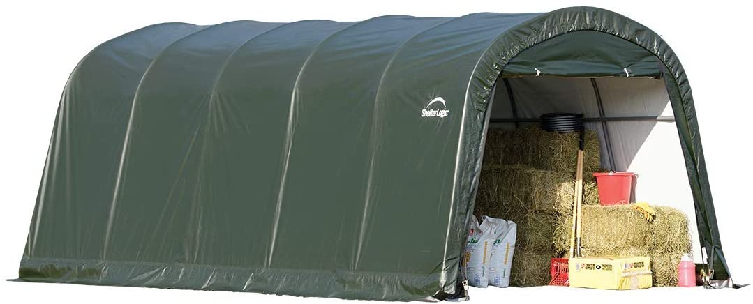ShelterLogic Replacement Cover 12Wx20Lx8H Round Garage in a Box 90541 805108 for Model 62780 21.5oz Hunter Green