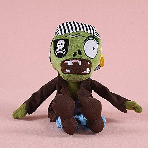 TavasHome Plants vs Zombies 2 PVZ Figures Plush Baby Staff Toy Stuffed Soft Doll 13cm-35cm Soft PP Cotton (Pirate Zombie) ()