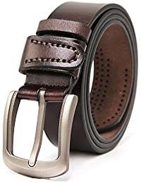 Men's Genuine Leather Belt for Casual Wear and Jeans