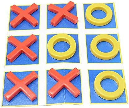 prisma collection Criss Cross Paper Tictac Toe for Kids with X and O in Plastic