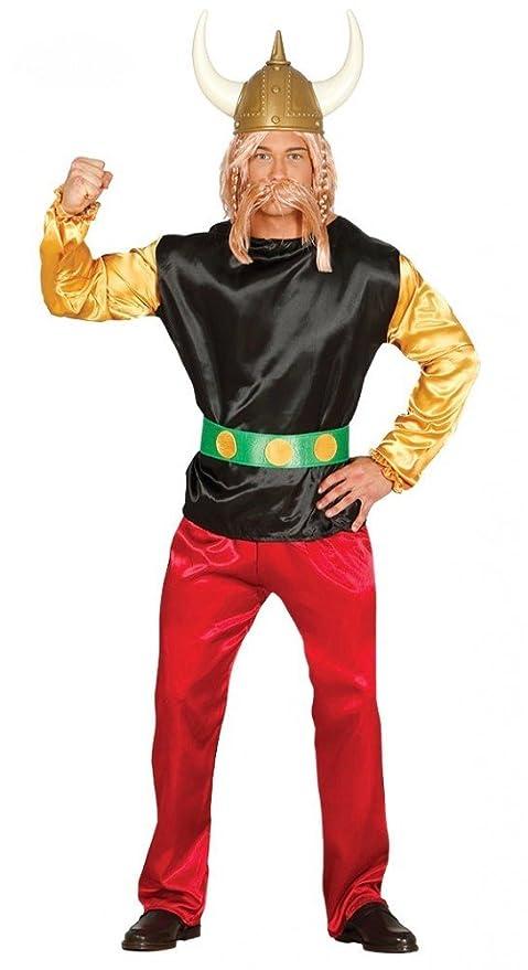 shoperama gallier Hombre Disfraz Incluye Casco gallier Camiseta ...