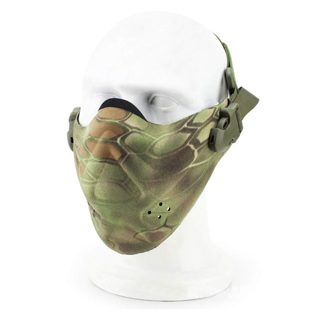 DLRUIHENGXIANGMU Riding Mask Halloween Mask Outdoor Mask Men's and Women's Half Face Inside Riding Cloth Halloween Prom Army Fan Equipment 5.51inx10.23in by DLRUIHENGXIANGMU