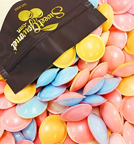 Satellite Candy Filled Wafers | Flying Saucers | Retro Candy Bulk | 3oz bag | Aprox. 60pcs