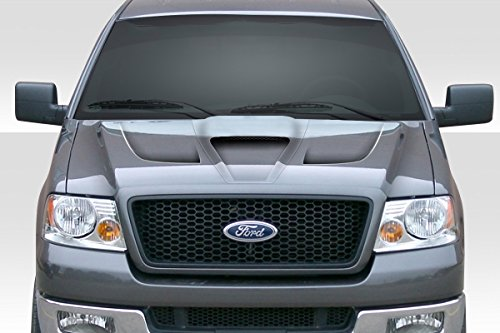 Ford Fiberglass Hood Scoop - Duraflex ED-NXQ-865 Shark Hood - 1 Piece Body Kit - Compatible For Ford F150 2004-2008