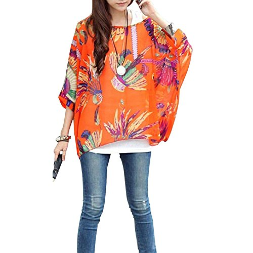 sexy pinkyee Color femme pour manches femme chauve Pattern ample style 19 souris avec bohme bandoulire hippie pour nwxwSq