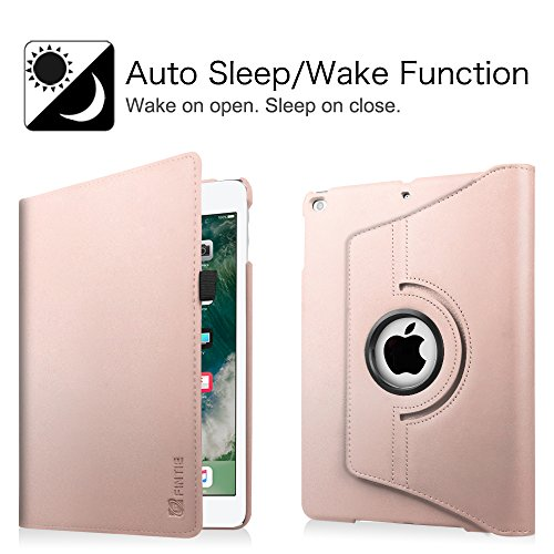 Fintie New iPad 9.7 inch 2017 / iPad Air Case - 360 Degree Rotating Stand Cover with Auto Sleep Wake for Apple New iPad 9.7 inch 2017 Tablet / iPad Air 2013 Model, Rose Gold Photo #10
