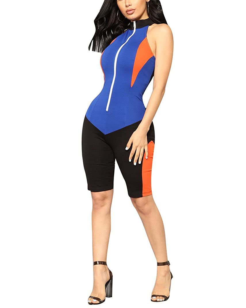 002585cde9d Summer sexy slim fit jumpsuits romper tight bodysuit athletic wear.  Feature  Sleeveless