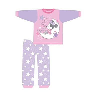7aed4fcff Image Unavailable. Image not available for. Colour: Disney New Character  Baby Girls Minnie Mouse Pyjamas Set Size 6-9 ...