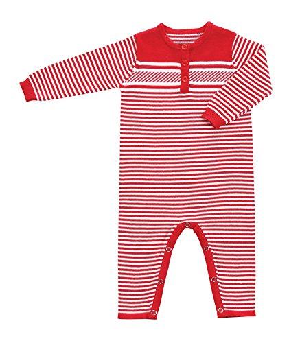 Angel Dear Little Boys Sweater Coverall, Christmas Stripe...