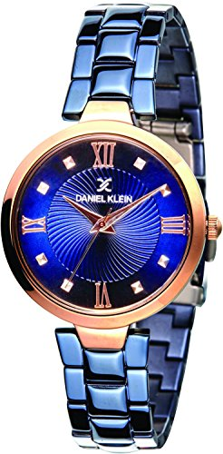 Daniel Klein Analog Blue Dial Women's Watch-DK11396-4