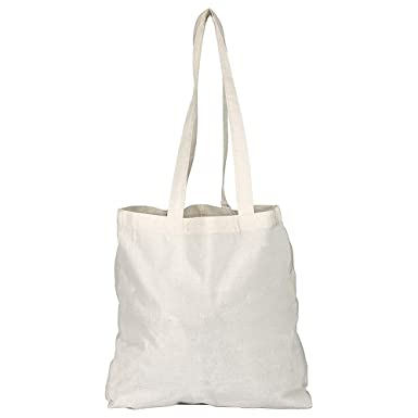 4e6e6342f Pack of 1/3/5/10/25/50/100 Plain Natural Cotton Shopping Tote Bags Eco  Friendly Shoppers: Amazon.co.uk: Luggage