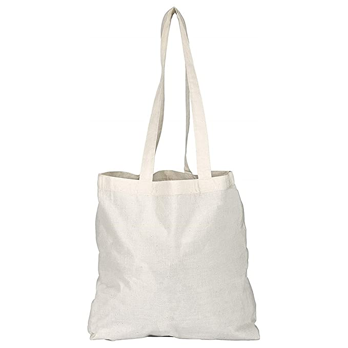 12127a949614 Pack of 1 3 5 10 25 50 100 Plain Natural Cotton Shopping Tote Bags Eco  Friendly Shoppers  Amazon.co.uk  Luggage