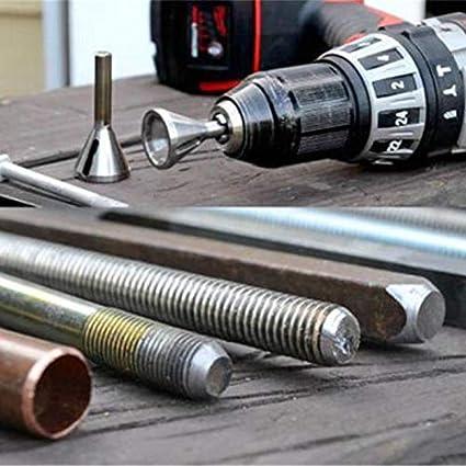 Black Deburring External Chamfer Tool Bit Stainless Steel Remove Cutting Burr Drill Hex shank