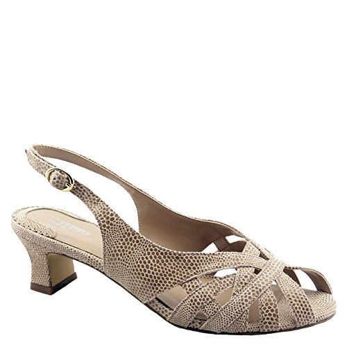 Ros Hommerson Women's Pearl Leather Sandals Nude 9 M