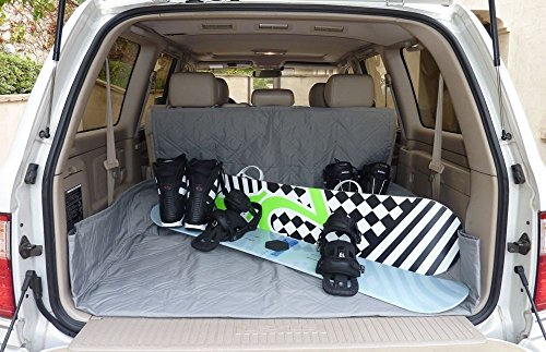 """Lace Mini Platforms (Cargo Liner For Dog Pet Quilted/Padded Fit SUV, Truck, Mini Van 52""""Wx93""""L. Gray)"""