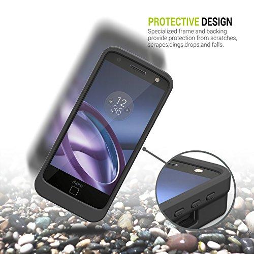 brand new 32b9f 9128f Motorola Moto Z Battery Case, ZeroLemon Moto Z 7500mAh Extended ...