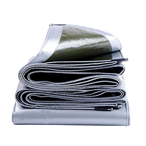 WZLDP PET-Plane Wasserdichte Sonnencreme Verdickung Sonnenschutz Markise Kunststoff-Emaille Farbe Streifen Plane im Freien wasserdicht Tuch Brauch Anti-UV