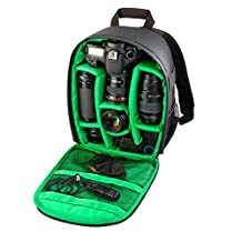 Coromose Camera Backpack Bag Waterproof DSLR Case for Canon for Nikon for Sony (Green)