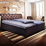 Fine living Metal Bed with Lifton Storage, King Size (Brown)