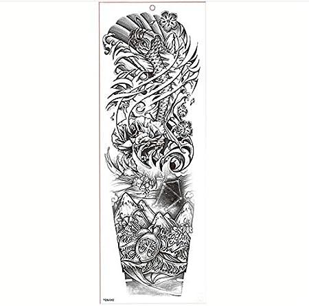 yyyDL Brazo grande manga tatuaje impermeable tatuaje temporal ...