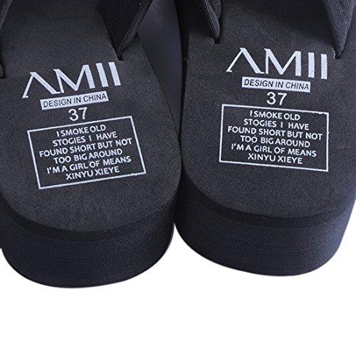 glissement Pantoufles Maison Noir Epais Avec Fond Anti Plage Tongs Sfit Chaussures De Pa8qxzww7I