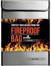 The Good Stuff Fireproof Document Bags (2000℉), Protect Important Documents, Fireproof Bags (Extra Strength), Waterproof and Fireproof Document Bag, Fire Safe Bags, Keep Your Documents Safe