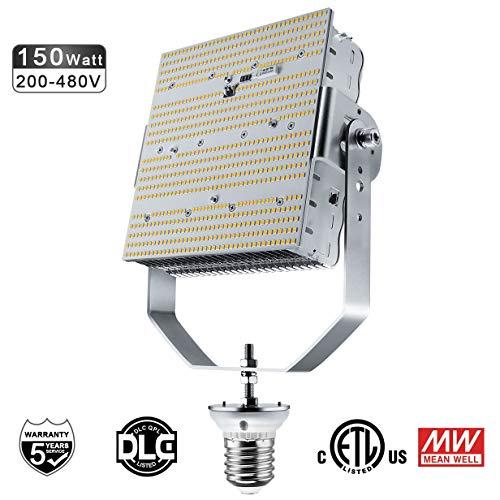 480V LED HID Retrofit Kits 150W Replaces 400W/450W/550W MH/HPS for Parking Lot Shoebox Wall Packs Canopy High Bay Cobra Head Pole Lighting Fixtures E39 Mogul Base ETL DLC Listed