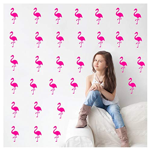 Melissalove 30Pcs Flamingo Wall Decor Stickers Removable Kid