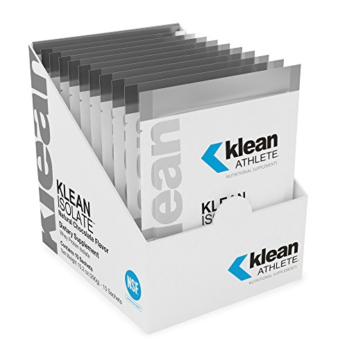 Klean Athlete - Klean Isolate - Whey Protein Isolate to Enhance Daily Protein and Amino Acid Intake for Muscle Integrity - NSF Certified for Sport - Natural Chocolate Flavor - 29 Gram Sachet - 10 Pack
