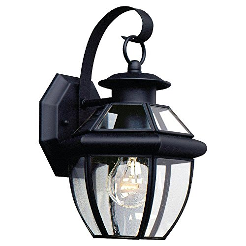 Single-Light Lancaster Black Wall Lantern (Wall Black Lancaster Lantern)