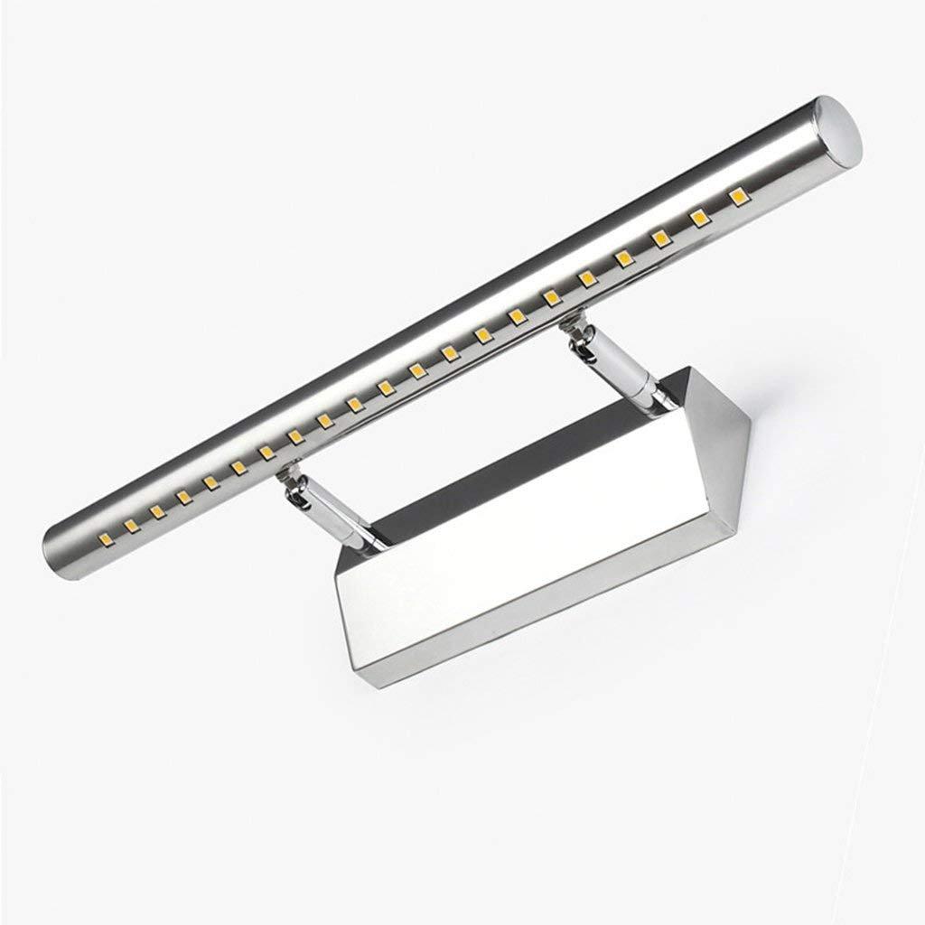 JBP Max Mirror Light Bad Light LED Modernes Bad Einfache Edelstahl-Spiegel Scheinwerfer Wand Lampe,Weiß,10Watts70cm